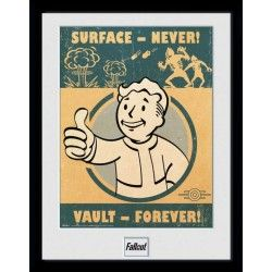 FALLOUT 4 VAULT FOREVER COLLECTOR FRAME 45 X 34 CM