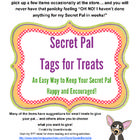 Secret Pal - Tags and Notes (Pick and Choose to Make Your Secret Pal's Day)
