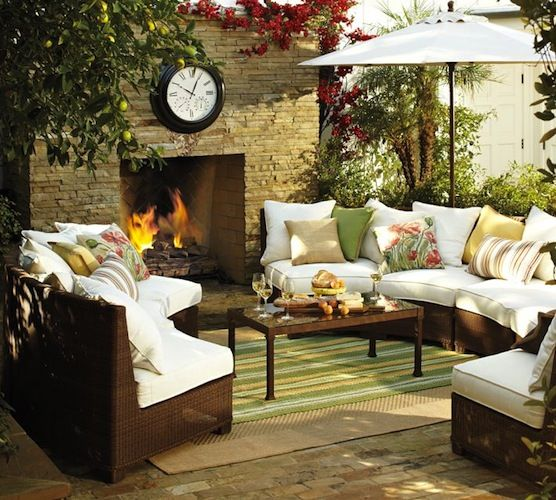 Such an elegant outdoor living