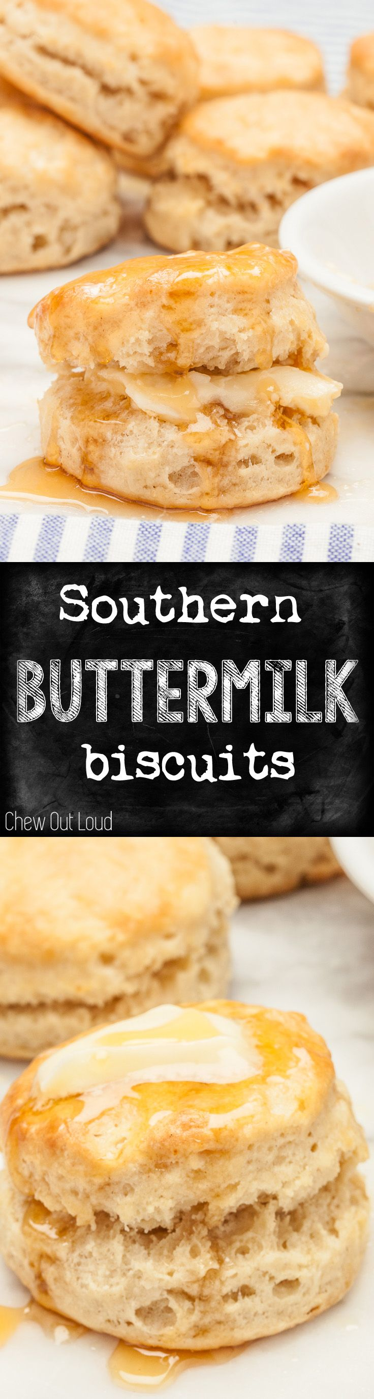 These are THE Best Buttermilk Biscuits! Golden, fluffy, tender, moist, soft, and melt-in-your-mouth! #biscuits #recipe