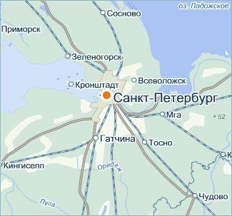 Карта Санкт-Петербург