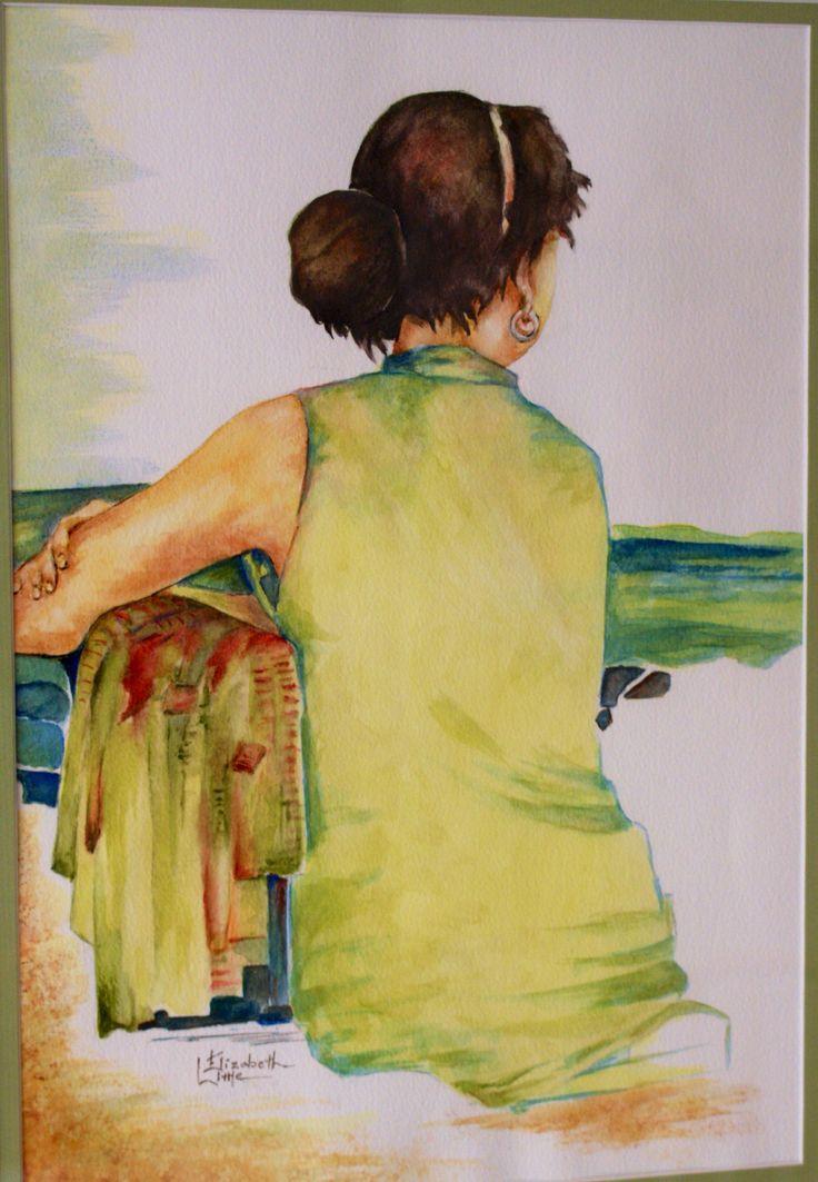 Dreaming,Watercolour by Elizabeth Little