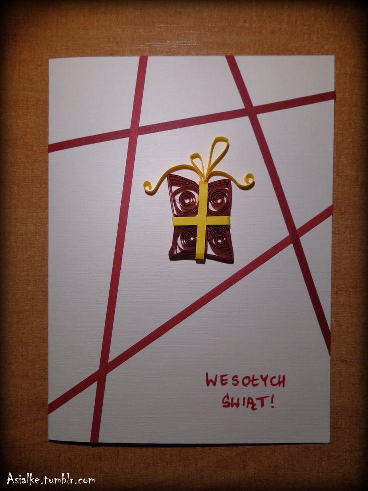 chrismas quilling card