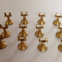 Set of 15 Table Number Holders - Gold | Weddingbee Classifieds