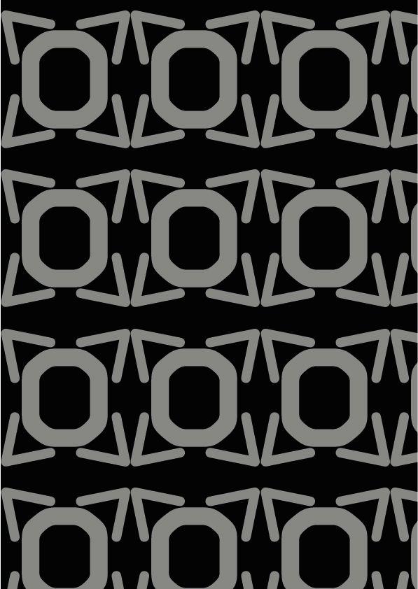 OCR-A (American type founders 1866)  GEOMETRICO  Le linee utilizzate in questo carattere sono molto precise, perciò ho creato un immagine rigida e pulita. Ho utilizzato colori neutri.