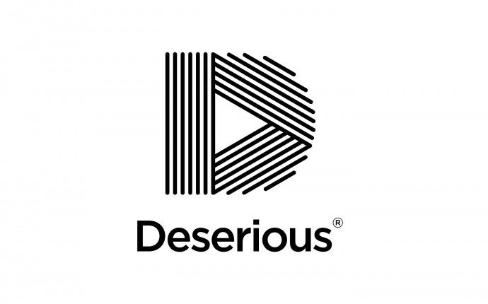 deserious, visual identity / logo design, by daily milk
