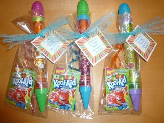 """Pinterest Crafts For Gifts   ... gift bag, tied with aqua tulle, and attached a """"Have a crazy 'kool"""