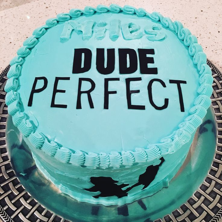 Dude Perfect birthday cake - I made this for my son's 8th birthday! He loves Dude Perfect so much and I could not find any birthday cakes for Dude Perfect birthday.