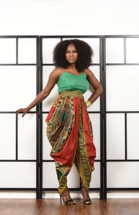 new harem pants in dashiki print - $132 @ ZUVAA.com