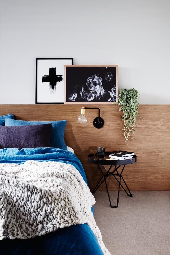 Spice side table Black -Styling and Art Direction by Moore Concepts and Greenhouse Interiors  Photography by Armelle Habib /// Blanket from Tribe & Co Living. Bedlinen by In Bed. Prints from Simple Form