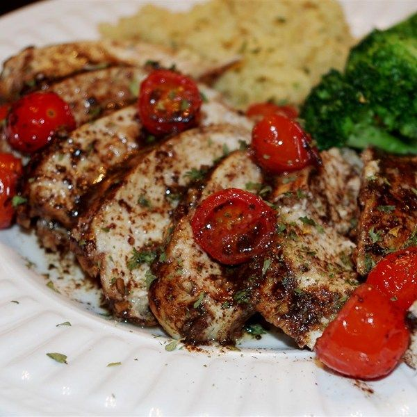 "Roasted Balsamic Chicken with Baby Tomatoes I ""I really enjoyed this dish. Very easy and healthy."""