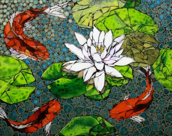 Koi Mosaic, from Faith is Torment.  I don't know the artist's name yet, but will find out.