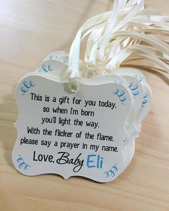 Candle Baby Shower Tags,Winter Baby Shower Favor Tags,Tea