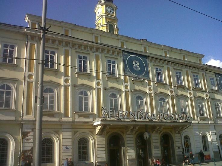Train station in Ljubljana, Slovenia