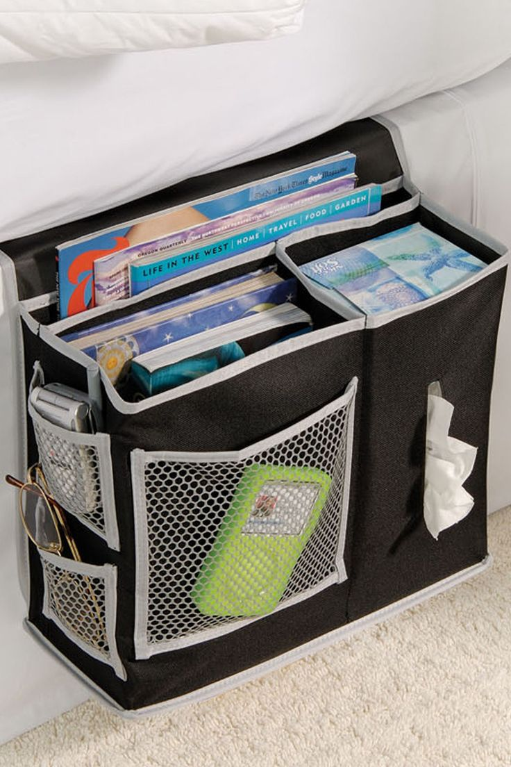 black bedside caddy such a good idea