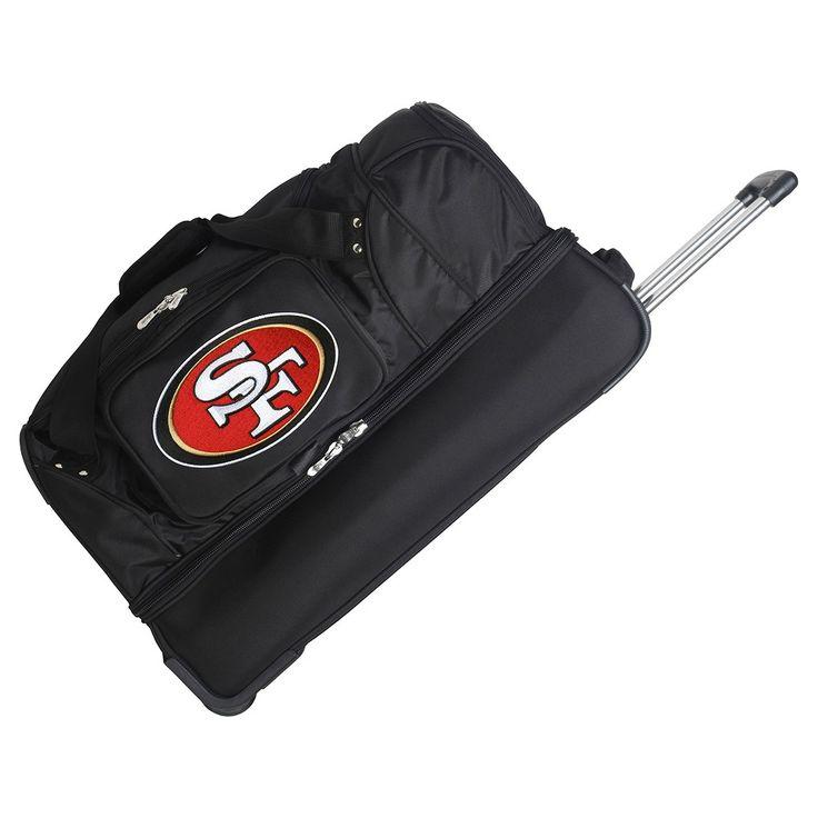 NFL San Francisco 49ers Mojo 27 Rolling Drop Bottom Duffle Bag