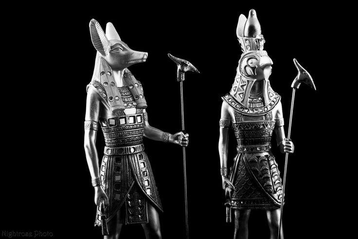 Anubis and Horus Egyptian Gods.