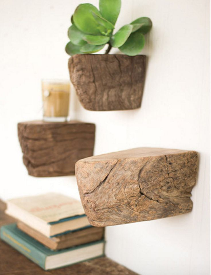 The Axel wooden wall shelves