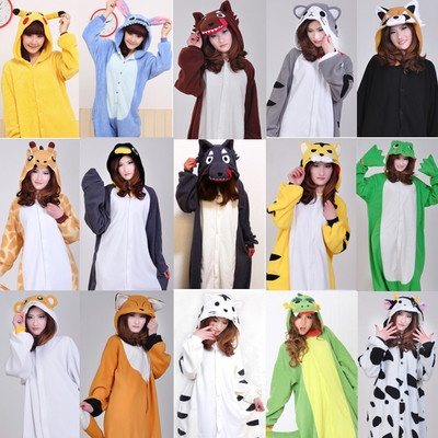Japan KIGURUMI Adult Pajamas Pyjamas Animal Suits Cosplay Costume Sleepwear All   eBay