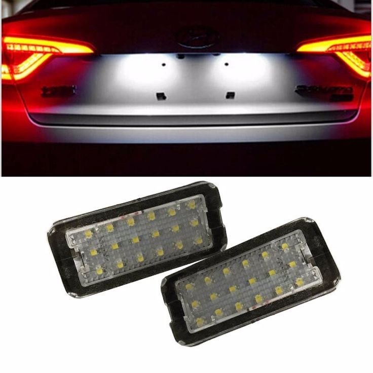 No Error 2 PCS car license plate light for Fiat 500 500C auto replacement LED number plate lamp accessory parts