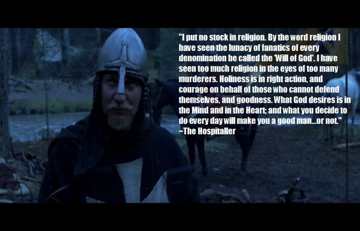 One of my favorite characters from any movie ever (The Kingdom of Heaven)