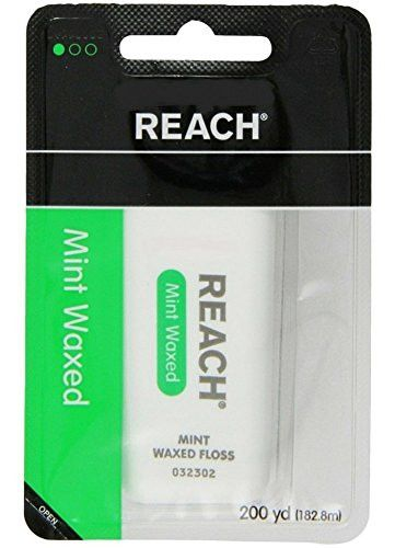 REACH Mint Waxed Floss 200 Yards (Pack of 2)