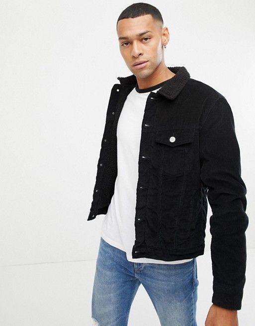 Jack Jones Cord Jacket With Teddy Collar Fashion Jackets Jack Jones Collars