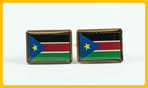 South Sudan Flag Cufflinks - Groom fashion accessories (*Amazon Partner-Link)