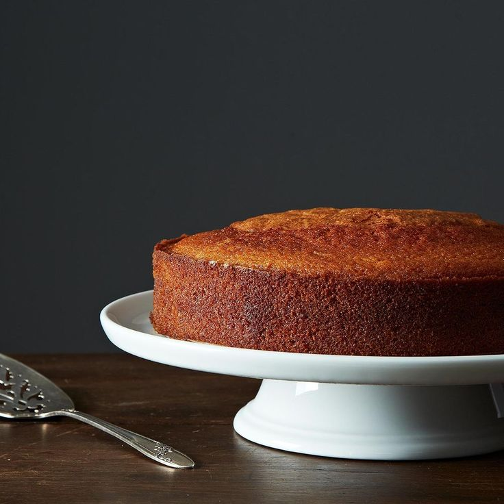 Maialino's Olive Oil Cake Recipe on Food52 recipe. If your cake pan is less than 2 inches deep, divide between 2 pans and start checking for doneness at 30 minute