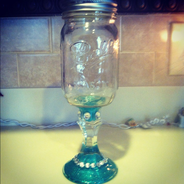 74 best wine glass crafts images on pinterest wine glass for Glass bottle art and craft