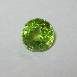 Batu Permata Yellowish Green Round Peridot 2.15 carat