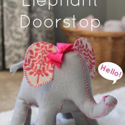 Cute Elephant Door Stop {Home Accessories}