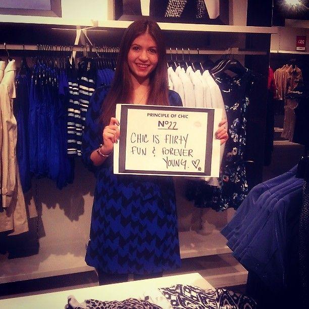 A principle of chic written by a sales associate! / Une leçon de chic écrite par une conseillère en boutiques