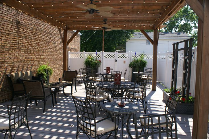 August Hill Winery & Illinois Sparkling Co. Tasting Room - 106 Mill Street, Utica, IL - Open 7 days a week for tastings, sparkling wine flights, nosh, gourmet cheeses, and creations from local artists.  Fantastic patio.  - www.illinoisSparklingco.com / www.AugustHillWinery.com: Illinois Wineries, Fantastic Patio, Outdoor Patios, Winery Ideas, Hill Winery, Wine O, Bear Resort, Tasting Room, Outdoor Patio Rooms