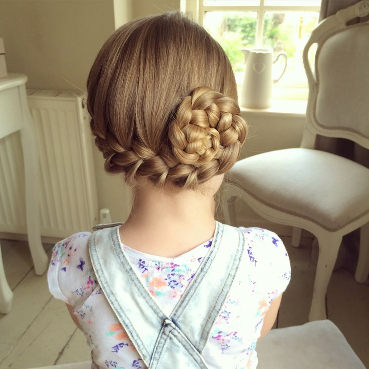 Pin-up Side French Braid by SweetHearts Hair Design