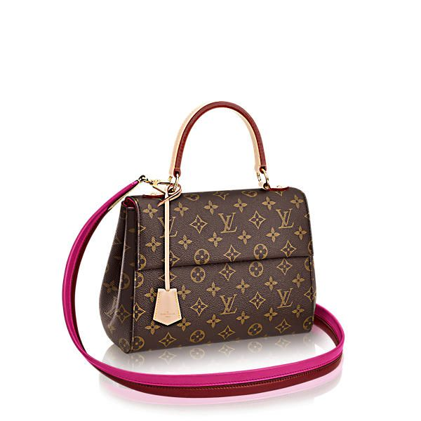 LOUIS VUITTON Cluny Bb. #louisvuitton #bags #shoulder bags #lining #canvas #metallic $1800..smaller of 2 bags