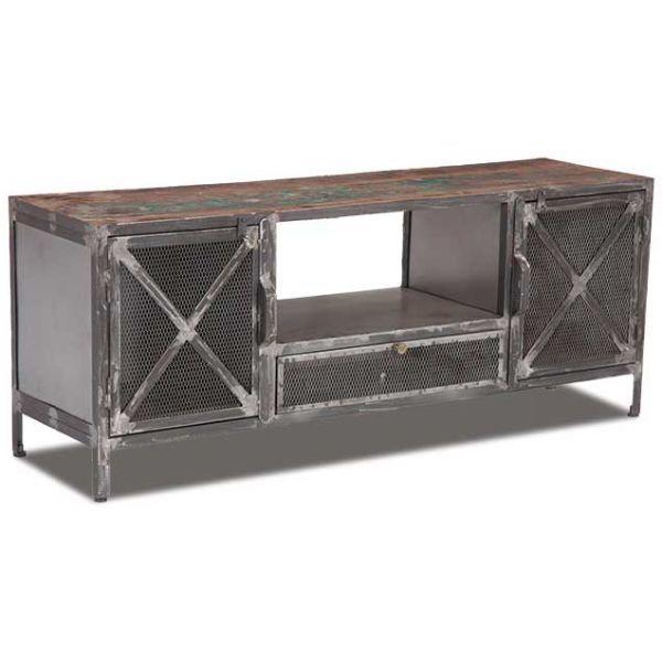 best 25 industrial tv stand ideas on pinterest tv table. Black Bedroom Furniture Sets. Home Design Ideas