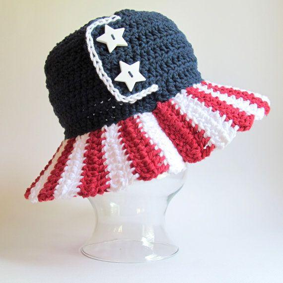 CROCHET PATTERN  Stars & Stripes  an American flag by TheHatandI