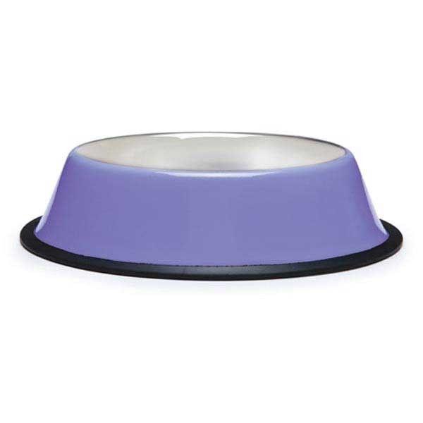 Set of 2 ~ NEW ProSelect Stainless Anti-Skid Dog Bowl Cat Bowl ~ 16 oz Purple…