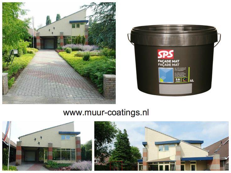 De SPS facade buitenmuurverf is een makkelijk aan te brengen buitenmuurverf die speciaal geschikt is voor grotere oppervlakten.