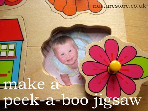 Make a personalized jigsaw puzzle with photos for baby!