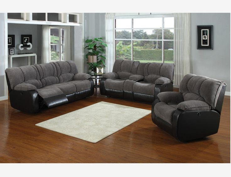 Jagger Gray Reclining Sofa Loveseat Console Recliner