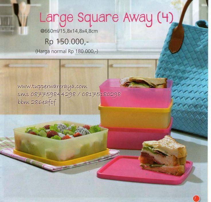 Katalog Tupperware Promo Agustus 2014 - Large Square Away
