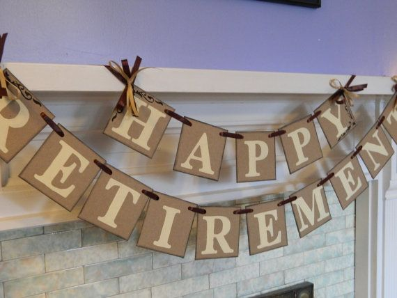 Happy Retirement Banner / Retirement Party Sign / Retirement Party Decorations / You Pick the Colors