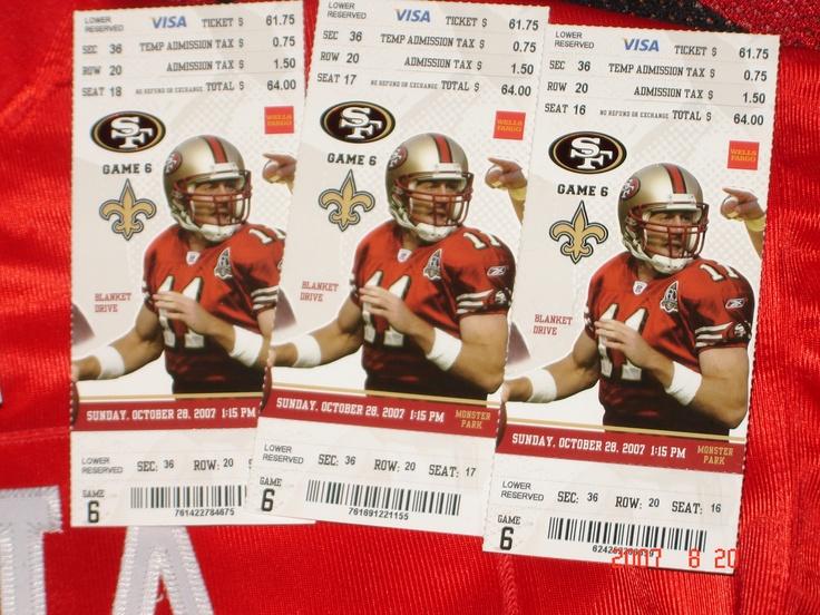 49ers ticket