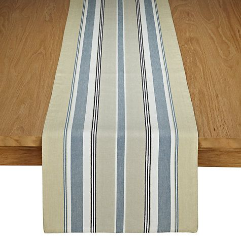 Buy John Lewis Coastal Stripe Runner, Blue/White online at John Lewis