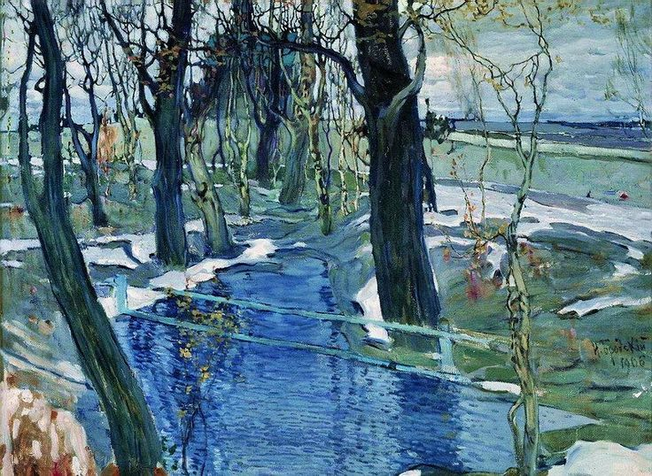 "Isaak Brodsky, ""Early Spring"" (1906)"
