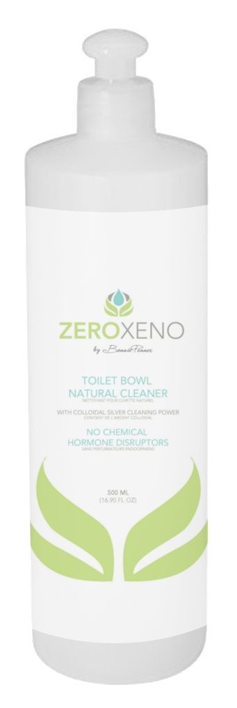 Zero Xeno Toilet Bowl Natural Cleaner removes tough stains from calcium, lime and rust. Our hormone disruptor-free cleaner is safe for use on porcelain surfaces. We ensure our Toilet Bowl Cleaner has 10 ppm colloidal silver to create a better potential bactericidal clean for you and your family. Made from organic, food grade and naturally derived ingredients, it's quickly and completely biodegradable. All scents come from 100% pure organic therapeutic grade essential oils.