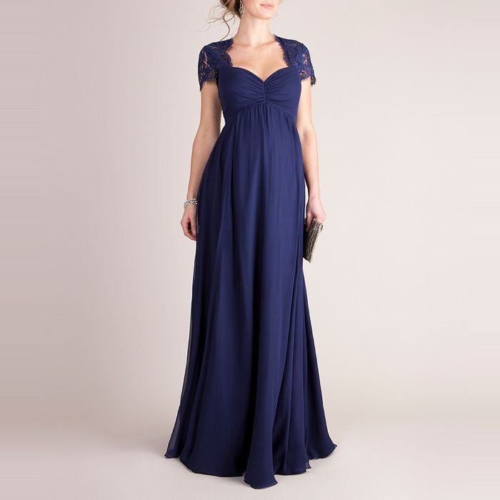 Rank & Style - Seraphine Silk And Lace Maternity Evening Dress #rankandstyle