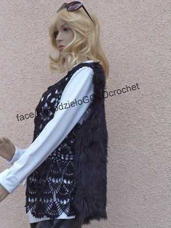 #szydełko #crochet #handmade #rękodzieło #kamizelka #futerkowa